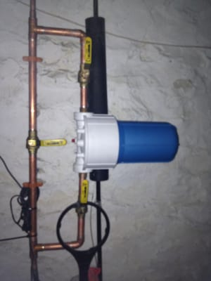 Whole House Water Filter With Bypass For A Plumbing