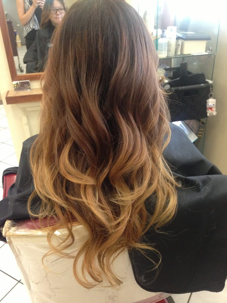 black brown blonde ombre yelp