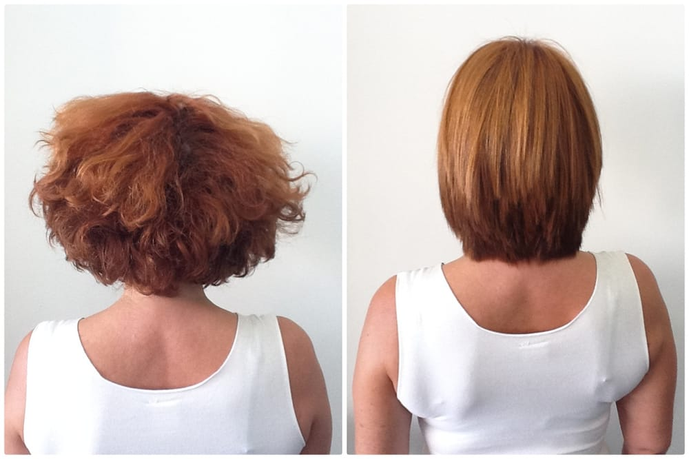 Before and after Brazilian Blowout!   Yelp