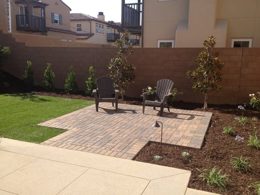 Paver patio extension in new yard | Yelp on Backyard Patio Extension id=76319