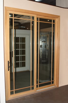 Marvin Aluminum Clad Sliding Door On Display In Our
