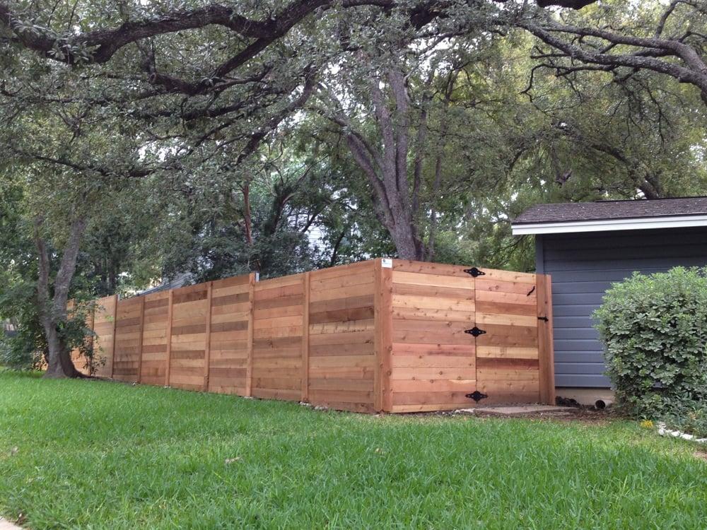 Horizontal Fence In Western Red Cedar Yelp