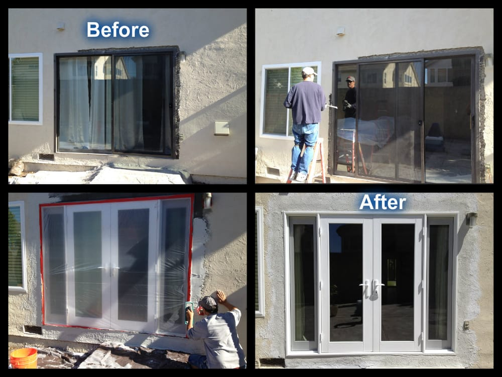Before Middle Amp After New Milgard French Door With