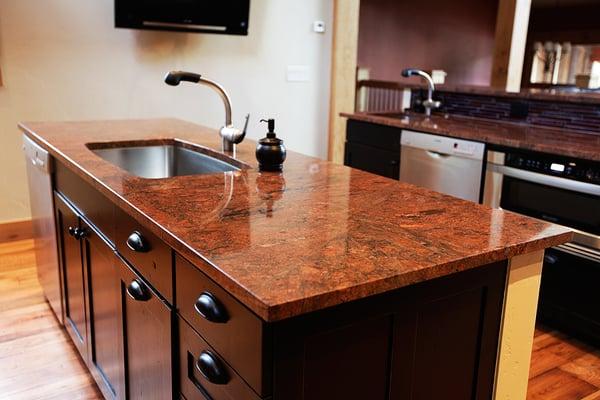 Red Malibu Island Granite Countertop Yelp