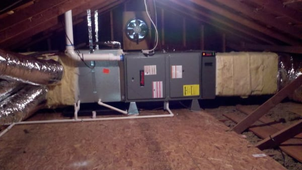 Amana 95 Horizontal Furnace In Attic Yelp
