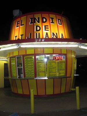 Rosendo's Taco Shop: East Main Street, El Cajon, California - formerly Variety Barrel and then El Barrilito. El Indio De Tijuana Taco Shop: North Broadway, Escondido, California - formerly Michael's Drive In.