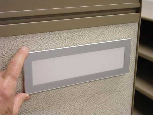 9 X 3 Cubicle Workstation Sign For Laser Printed Insert